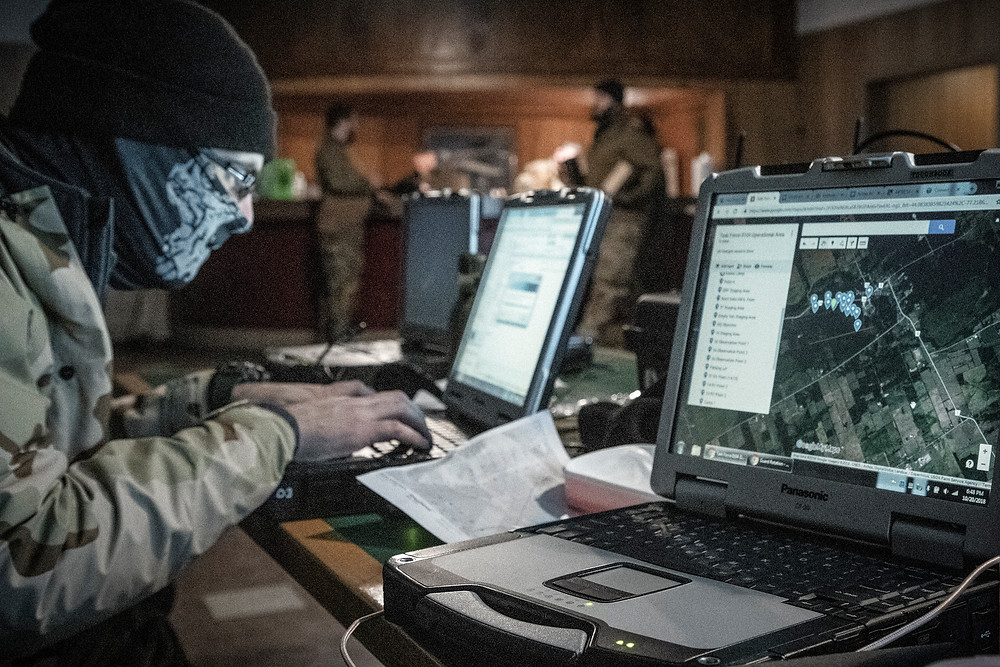 Blackline Simulations - Zello and UHF Used in Airsoft Milsim - Tactical Operations Center with Panasonic Toughbooks - Network radio PTToC PoC