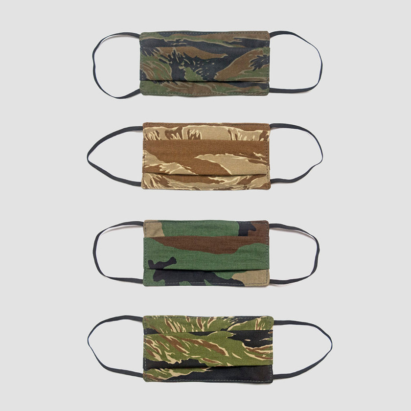 Blackline Simulations - Blog - Tactical face masks covid-19 face covering camouflage balaclava respirator Perroz Designs Tiger Stripe Desert Woodland