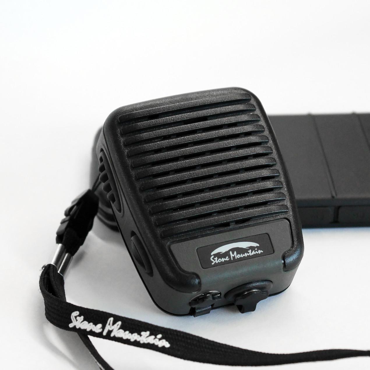 BluSkye Bluetooth RSM PoC wired speaker mic blackline simulations tactical zello accessories for airsoft milsim IP68 MIL-STD-810G stone mountain