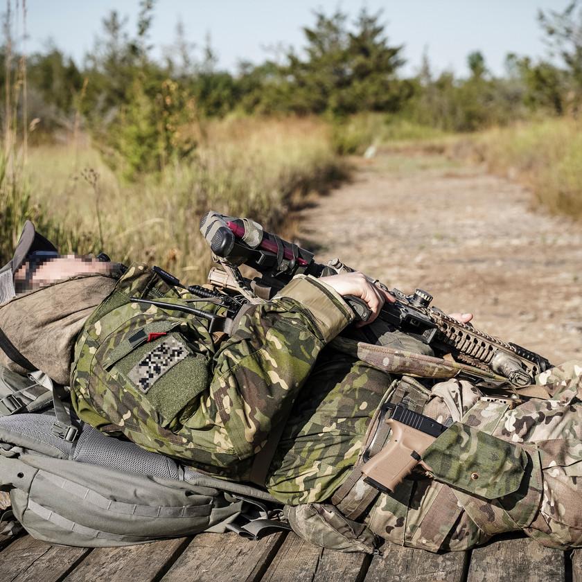 Getting some rest Blackline Simulations Airsoft Military Simulation Milsim Canada Canadian Guns Multicam