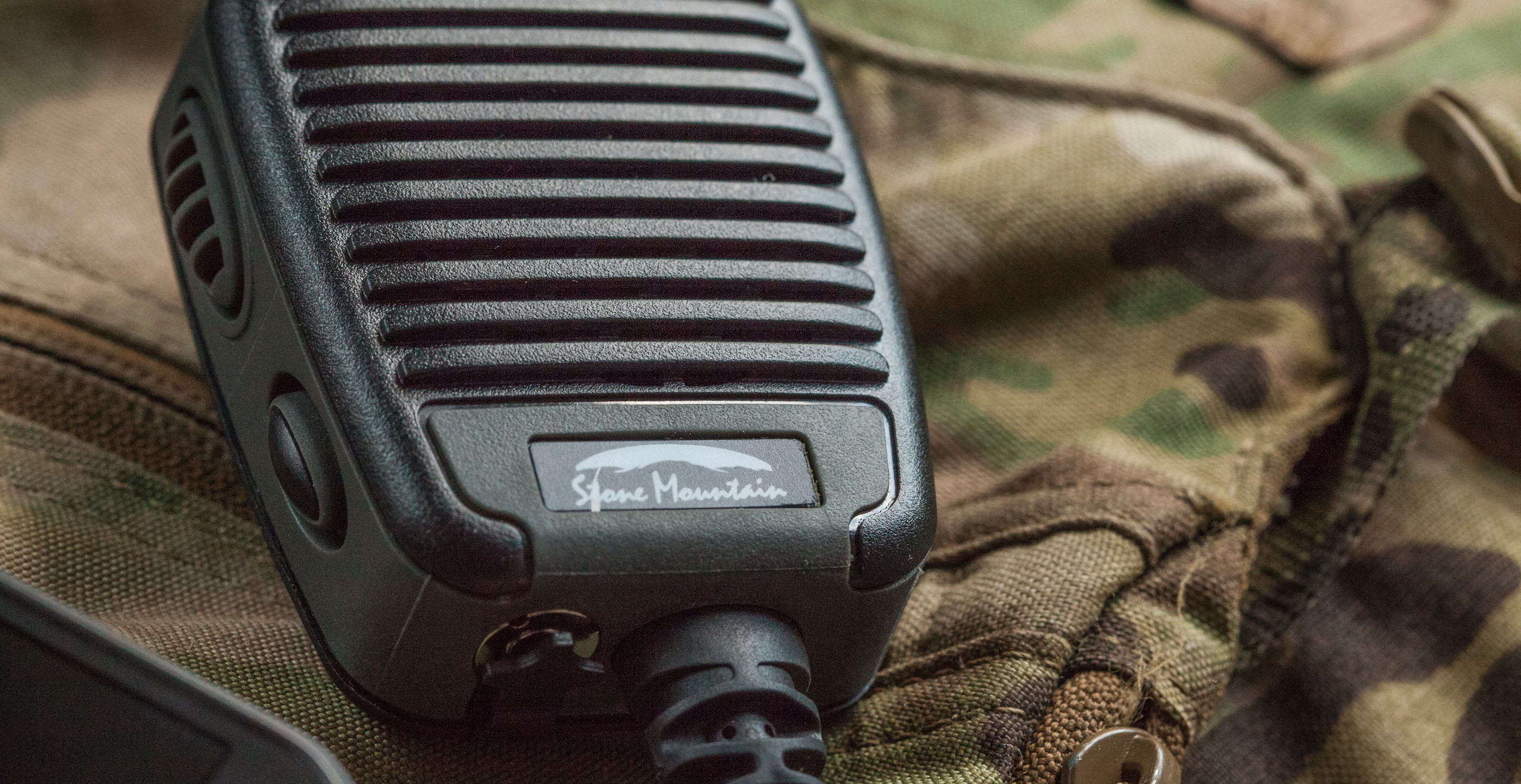 Stone Mountain Ltd Phoenix Elite PoC RSM speaker microphone Blackline simulations airsoft military simulations tactical zello accessories review Front