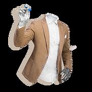 EXIGO Uomo invisibile in giacca mezzobusto che scrive