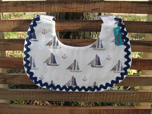 Sailboat Drool Bib
