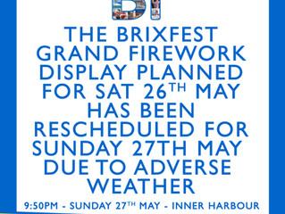 BrixFest 2018 Fireworks Rescheduled