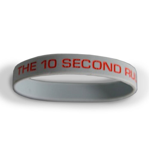The 10 Second Rule Rubber Wristband
