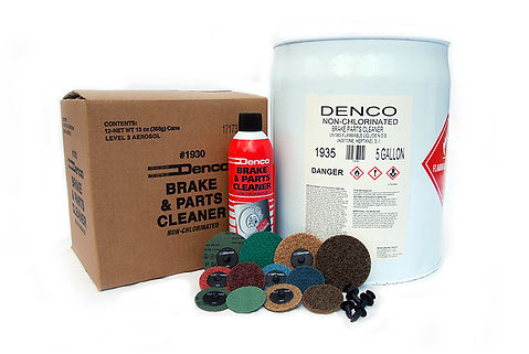 Denco Distributing privatly brands its own brake cleaner, roloc disc series, and may fasteners.  Our brake cleaner is a secret formula that has proven cost effective and profitable for many of our customers.