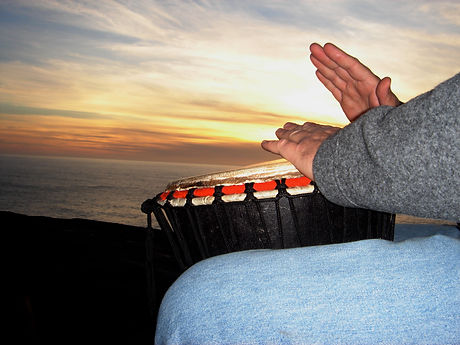 Sunset Drumming Hands.JPG