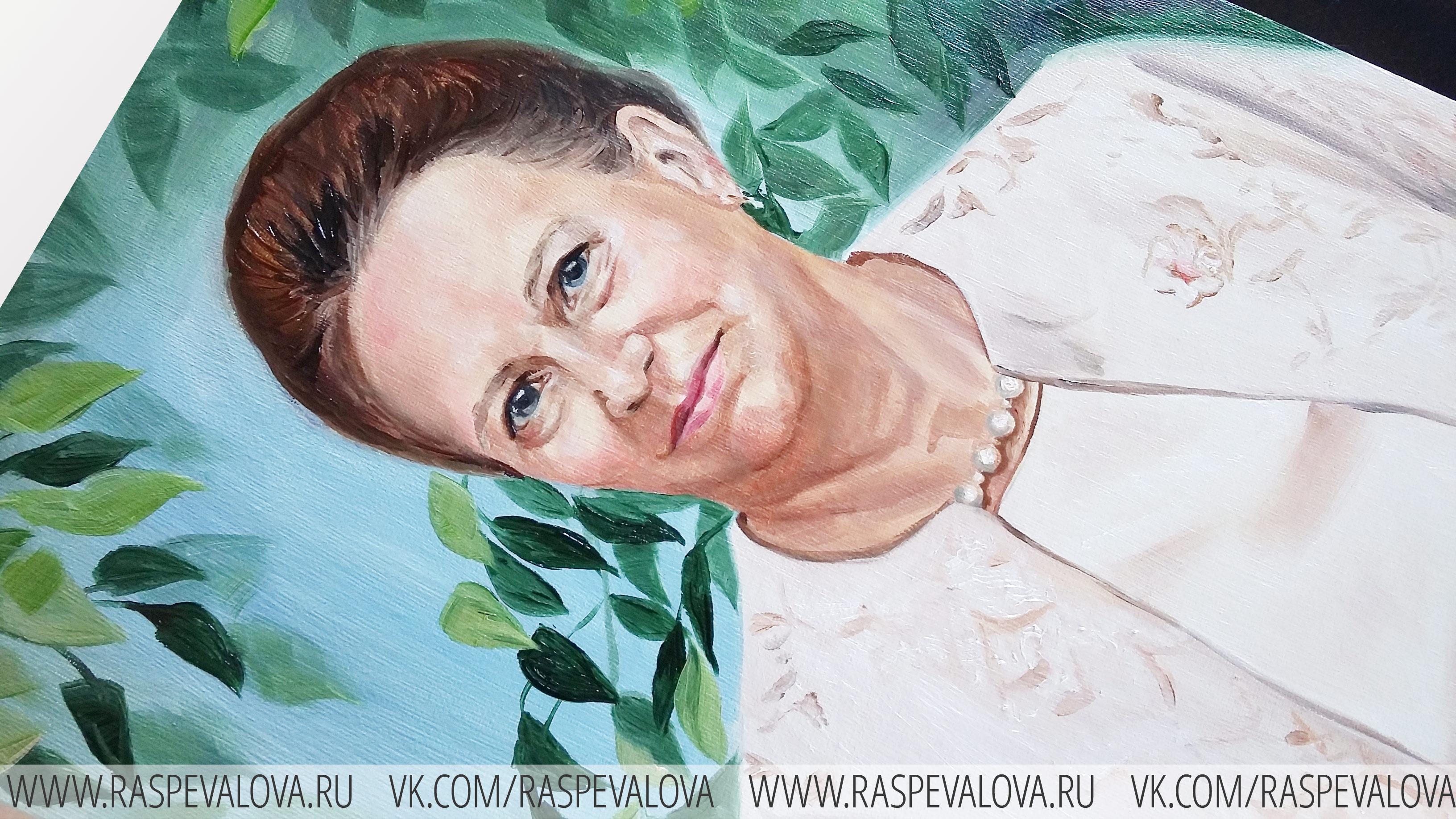 Портрет в подарок маме