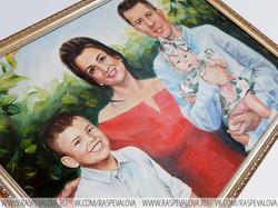 Семейный портрет маслом