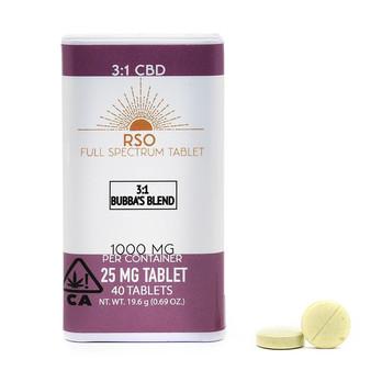 25mg Tablets - 3:1 CBD - Bubba's Blend