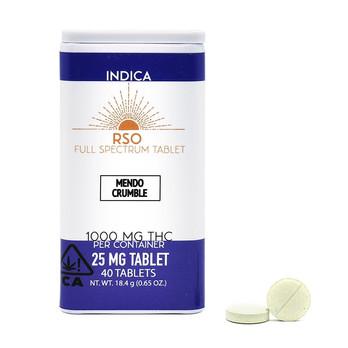 25mg Tablets - Indica - Mendo Crumble