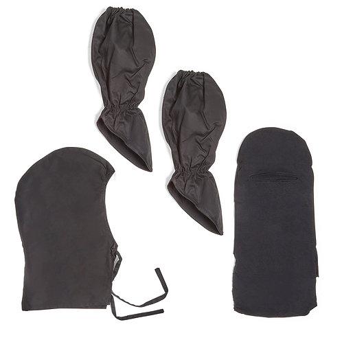 Ninja Gauntlets and Hood Set Pack - Black