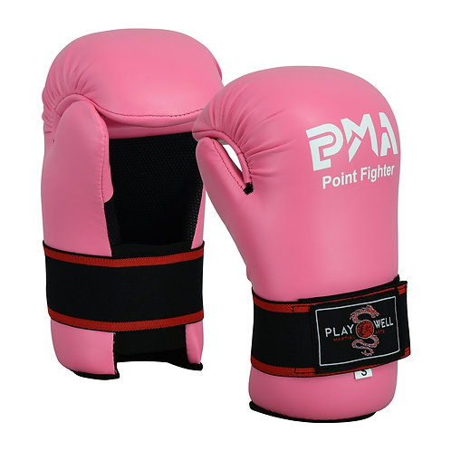 Semi Contact Point Sparring Gloves: Pink - NEW