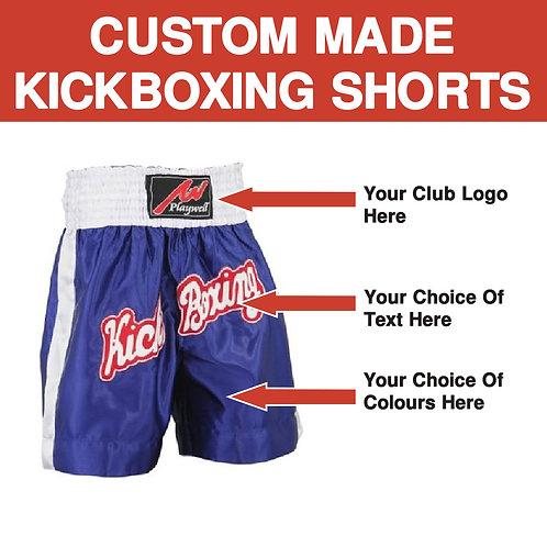 Custom Made Martial Arts Club Kickboxing Shorts