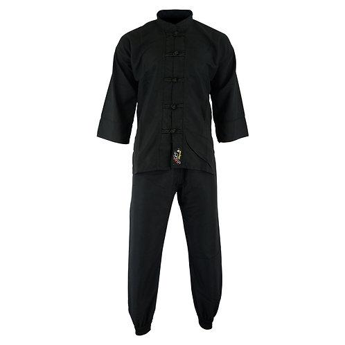 Kids Kung Fu Elite Polyester Suit - Black