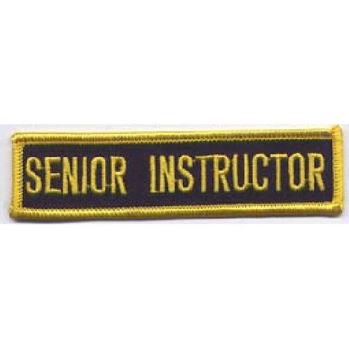 Senior  Instructor Patch:  P124