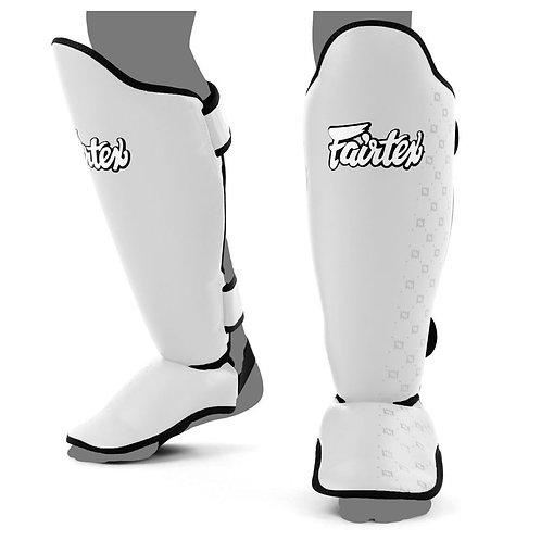 Fairtex SP5 Muay Thai Shin Pads - White