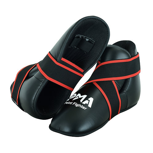 Semi Contact Point Sparring Boots - Black - NEW