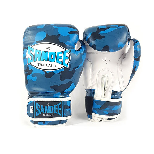 Sandee Authentic Kids Camo Boxing Gloves -  Blue