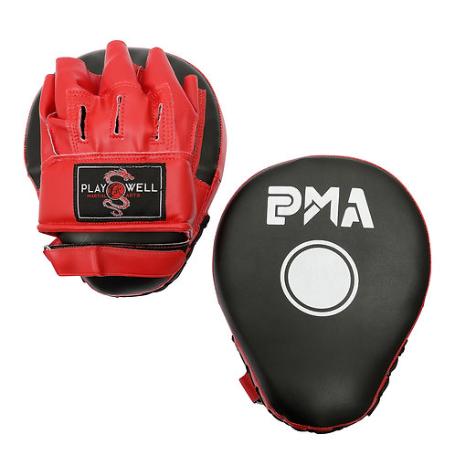 Deluxe PMA Curved Vinyl Focus Pads  - Black/Red