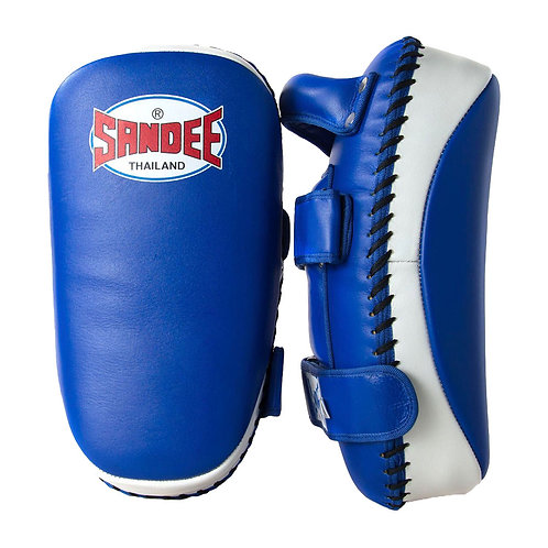 Sandee Muay Thai Leather Curved Kick Pads - Pair
