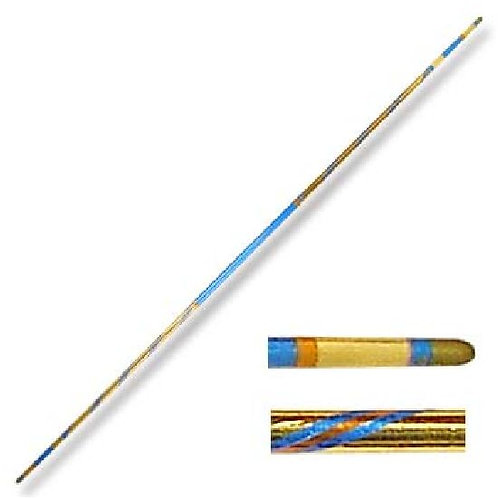 Chrome Competition Gold/Blue Lotus Wood Bo Staff - 72 Inches