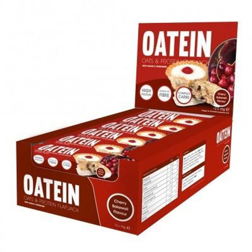 Oatein Flapjack ( Protein Bars ) - Box of 20 Cherry Bakewell