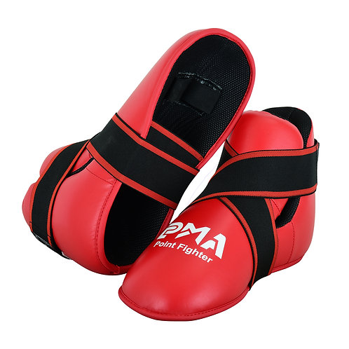 Semi Contact Point Sparring Boots - Red  - New