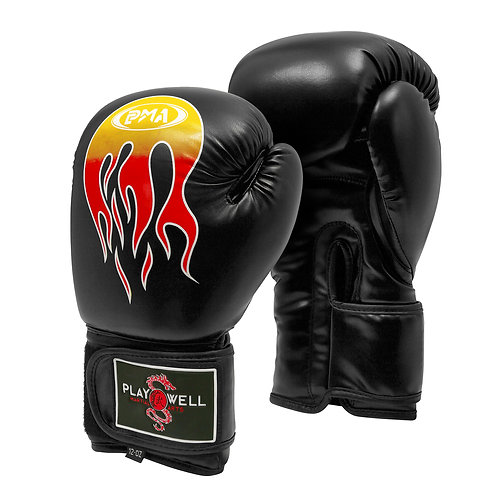 Boxing Pro Series Black Flames Gloves