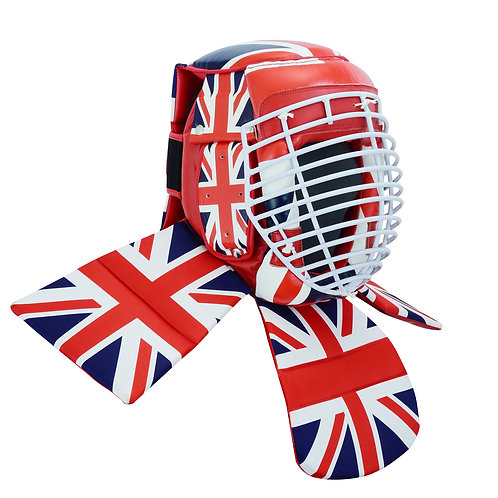 Full Contact Leather Competition Escrima Helmet - UK Flag