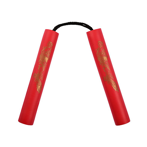 NR-001: 8 Inches Red Nunchaku Foam with Cord