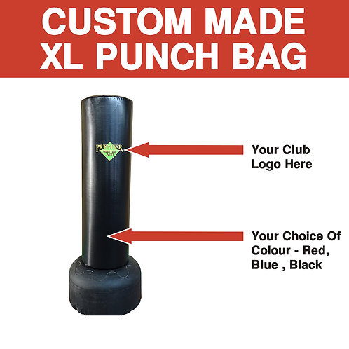 Custom Made  XL Freestanding Punch Bag Black