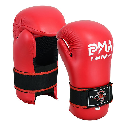 Semi Contact Point Sparring Gloves: Red - NEW
