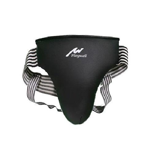 Krav Maga Style PU Padded Groin Guard  - Black