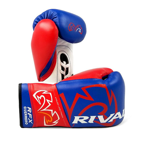 Rival Boxing RFX-Guerrero Pro Fight Gloves - Blue/Red ( 10oz )