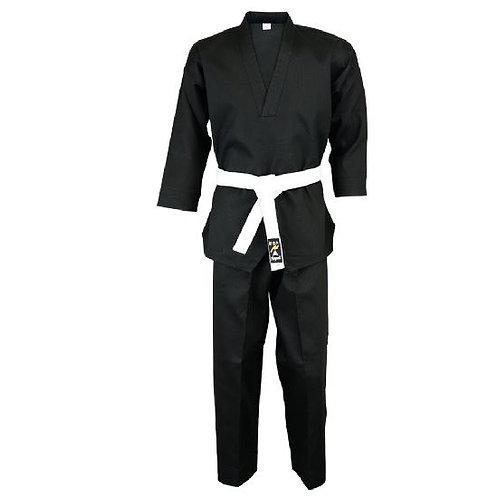 Karate Black V-Neck Pull Over Uniform : Children - 9oz