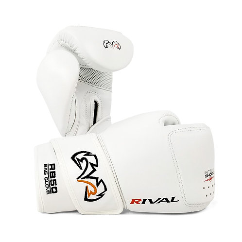 Rival Boxing RB50 Intelli-Shock Compact Bag Gloves - White