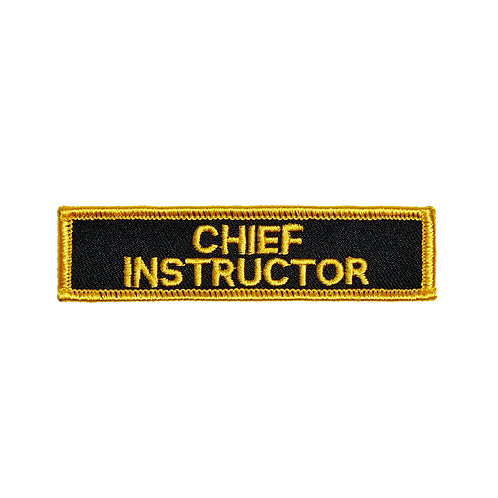 Chief Instructor Patch: P119