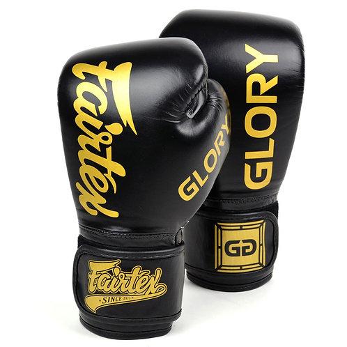 Fairtex BGVG1 X Glory Leather Black Boxing Gloves