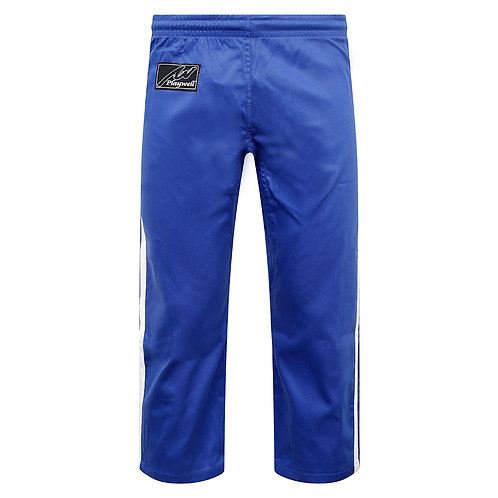 Full Contact Trousers - Blue W/ 2 White Stripes Cotton