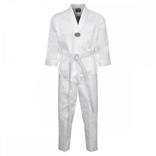 Korean Ultimate Taekwondo Uniform: White V-Neck - Clearance