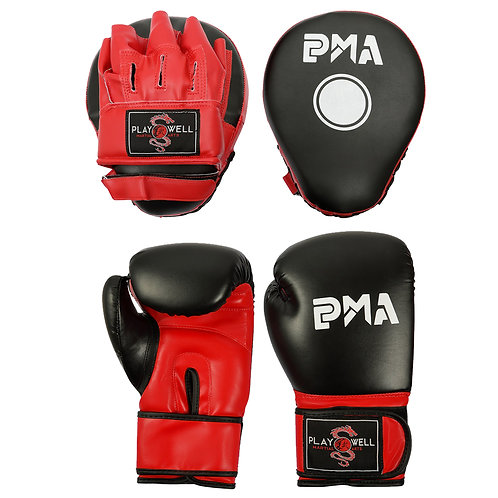 Playwell Boxing Gloves And focus Pads Combo Set