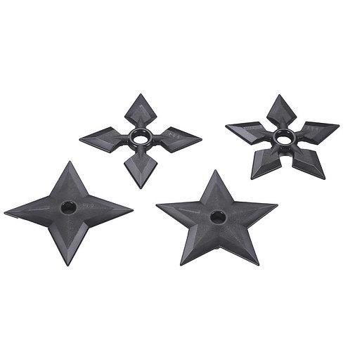Black Polypropylene Full Contact Ninja Stars