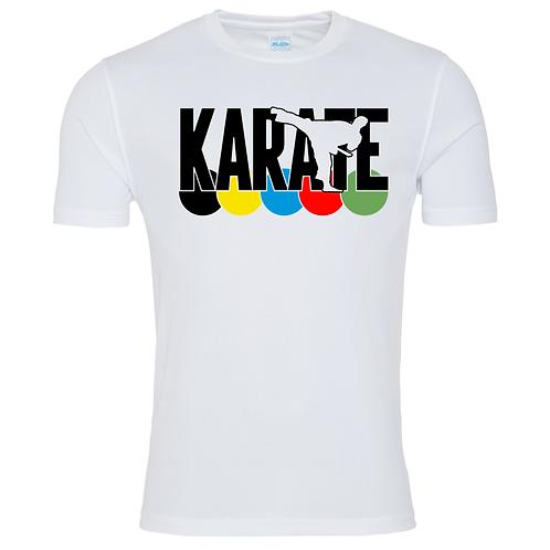 Karate WKF Colours T Shirt - White