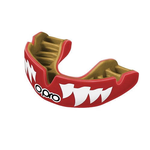 Opro Power Fit Red Aggression Mouthguard - Adults