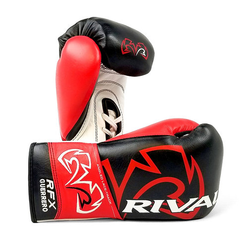 Rival Boxing RFX-Guerrero Pro Fight Gloves - Black/Red ( 10oz )