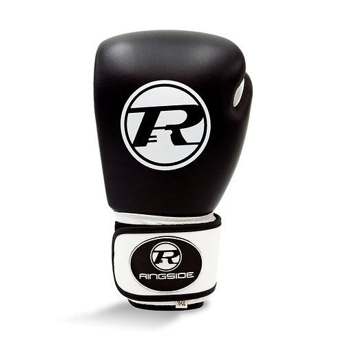 Ringside Boxing Leather Club Gloves Black  - 16oz