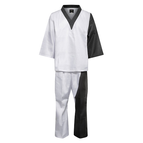 Elite Splice V-Neck Team Uniform - White/Black