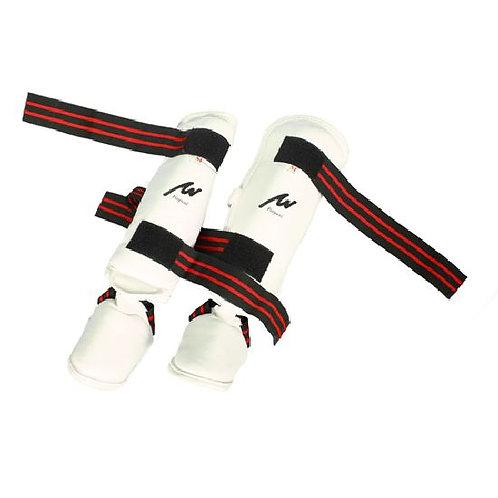 Semi Contact Kick Boxing Shin-Instep Guard - White