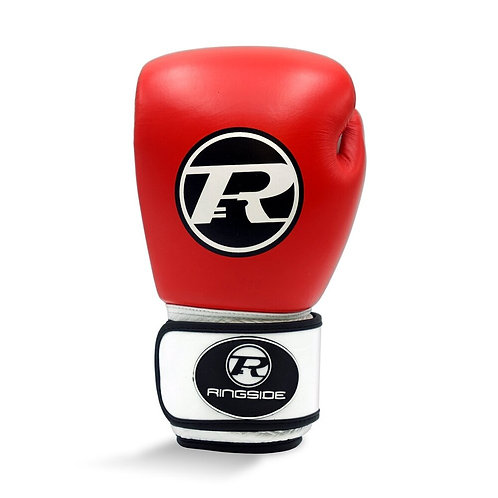 Ringside Boxing Leather Club Gloves Red - 14oz